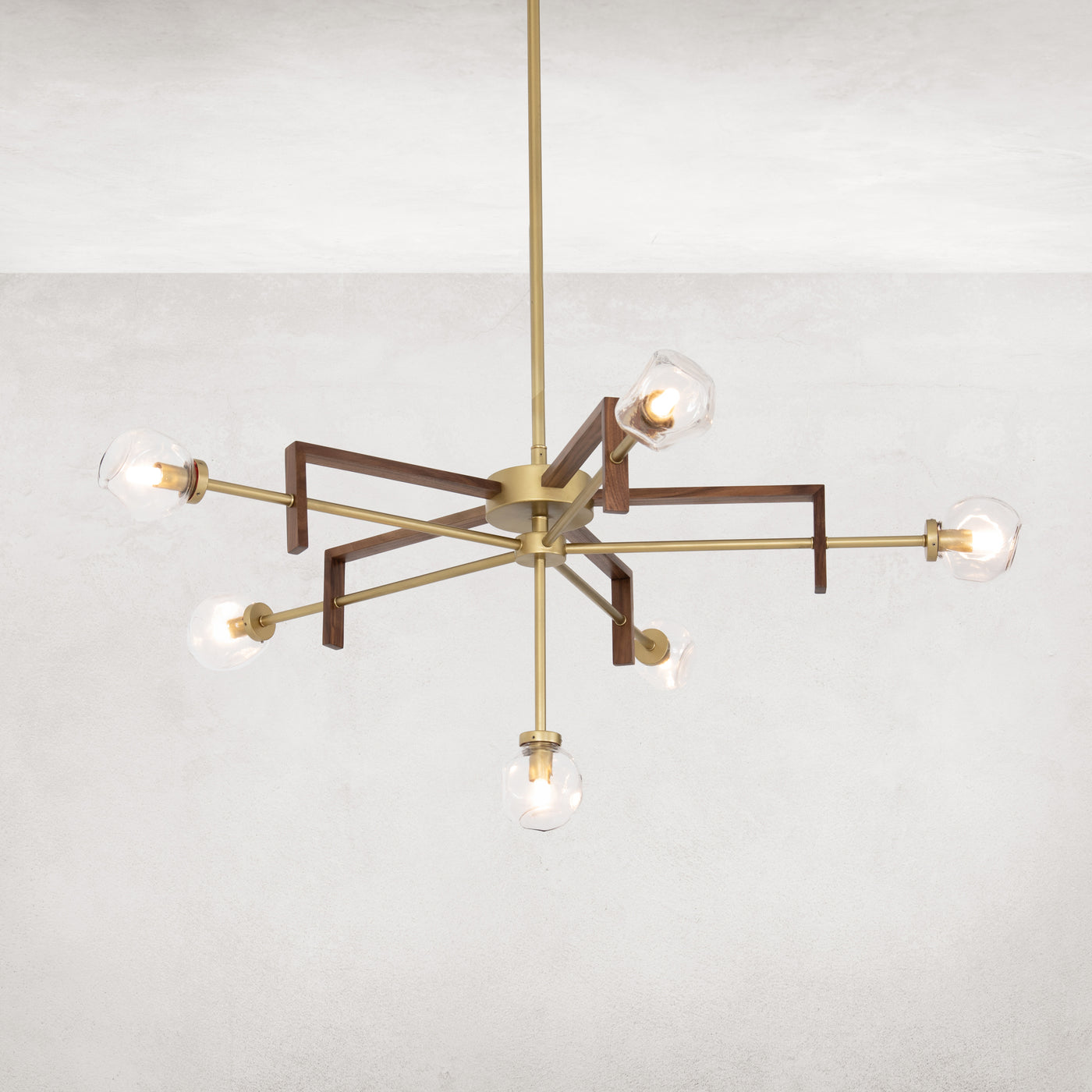 four hands sterling chandelier illuminsted
