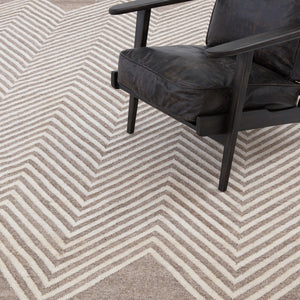 four hands chevron beige rug with chair
