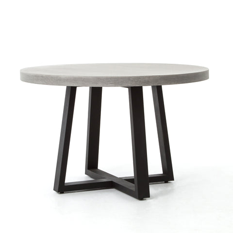 four hands cyrus dining table angled