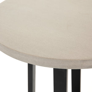 four hands cyrus round counter table side