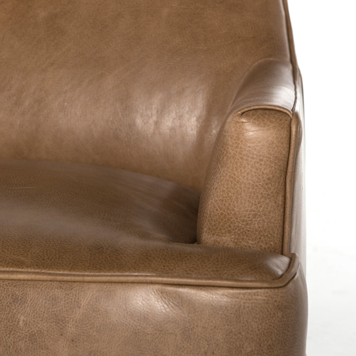 four hands danya chair warm taupe arm
