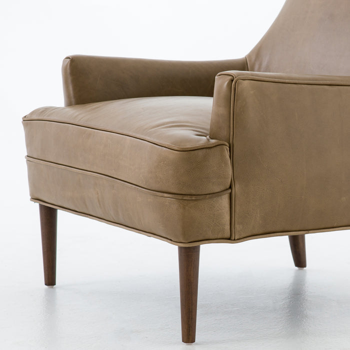 four hands danya chair warm taupe angle
