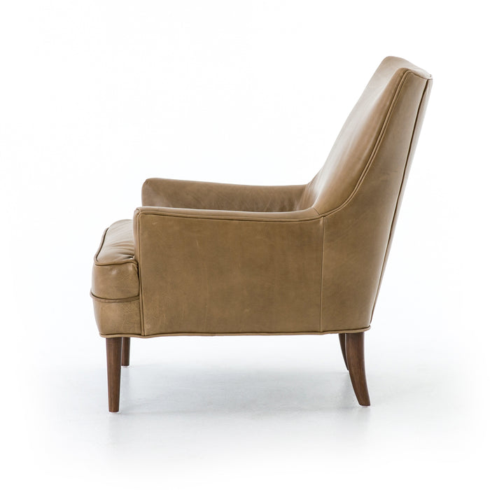 four hands danya chair warm taupe side