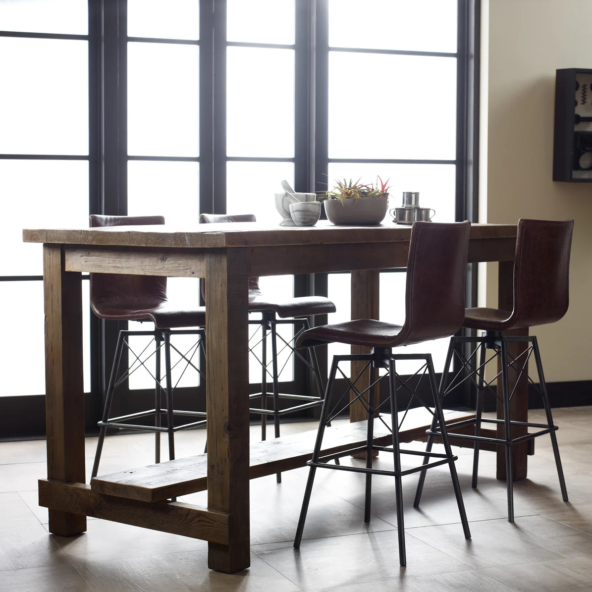 four hands diaw bar stool in room