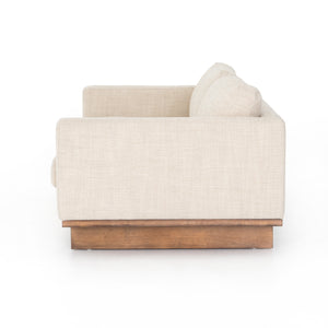 four hands everly sofa neutral  taupe side
