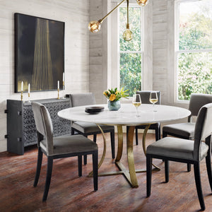four hands gage dining table room view