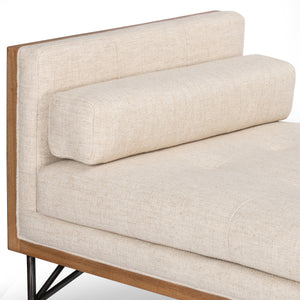 four hands holden chaise thames cream pillow