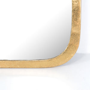 four hands hyde mirror large gold leaf bottom