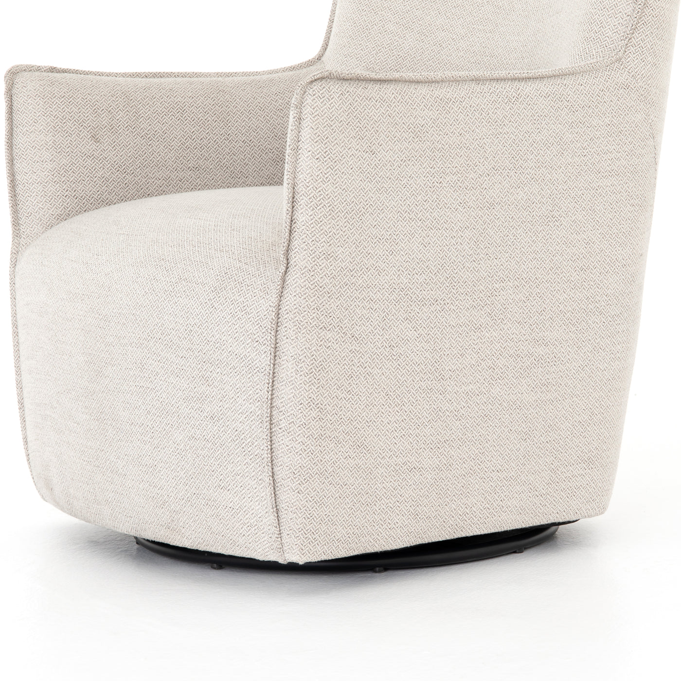 four hands kimble swivel chair noble platinum side
