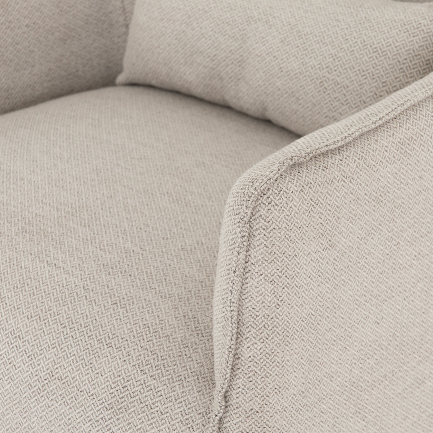 four hands kimble swivel chair noble platinum detail