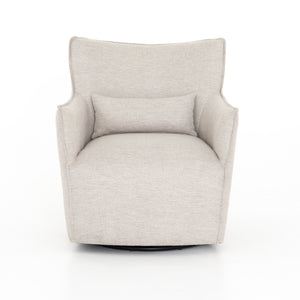 four hands kimble swivel chair noble platinum front