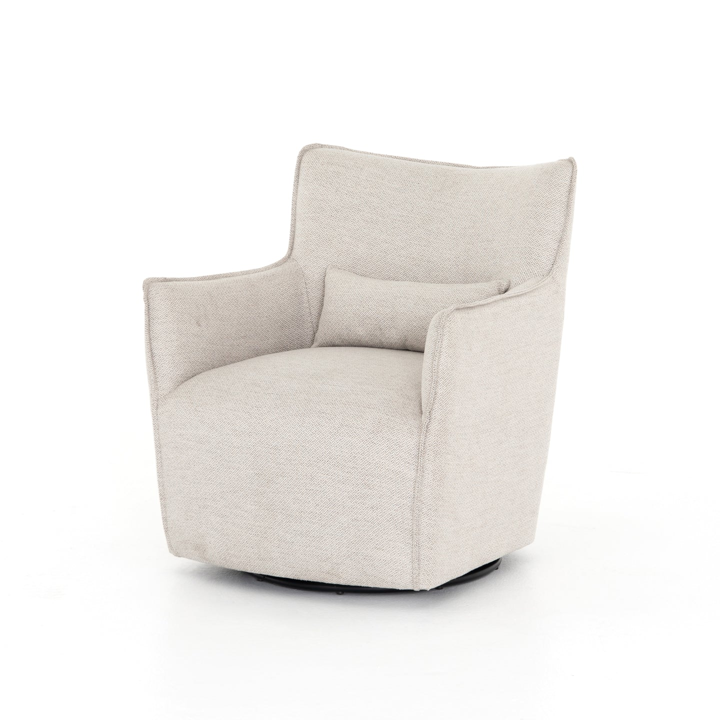 Cool Four Hands Kimble Swivel Chair Noble Platinum Evergreenethics Interior Chair Design Evergreenethicsorg