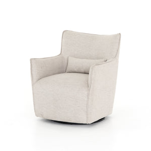 four hands kimble swivel chair noble platinum