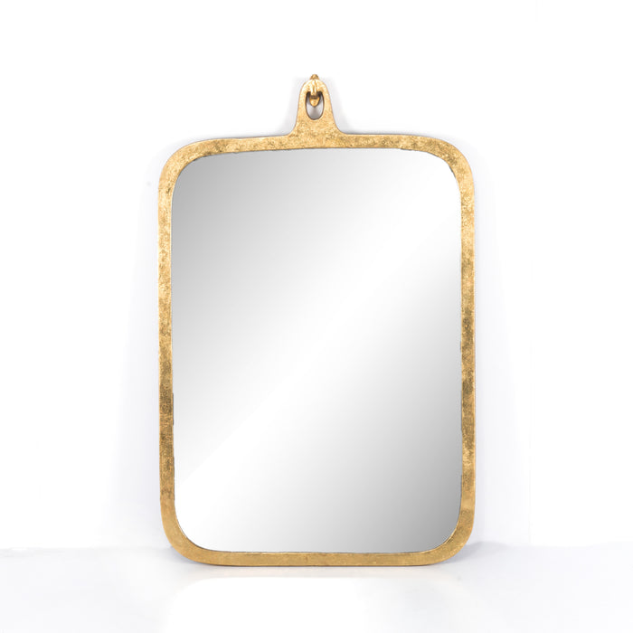 four hands hyde mirror large gold leaf