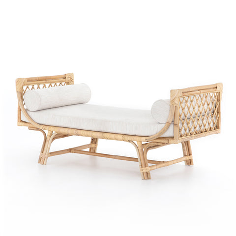 four hands marina chaise natural rattan angle