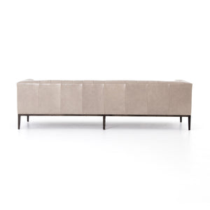 four hands marlin leather sofa dusty stone back