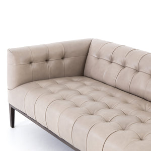 four hands marlin leather sofa dusty stone seat