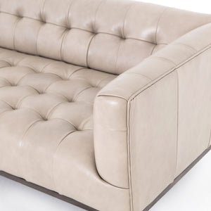 four hands marlin leather sofa dusty stone arm