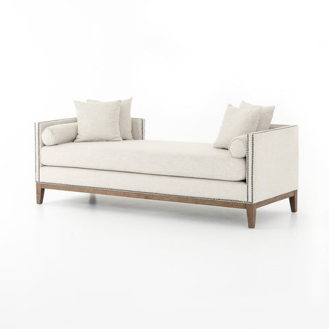 four hands mercury double chaise noble platinum