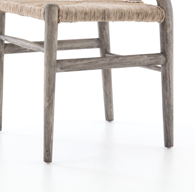 Four Hands Muestra Dining Chair Weathered Gray Clayton Gray Home