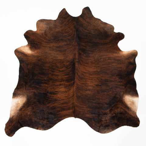 four hands natural cowhide rug brindle
