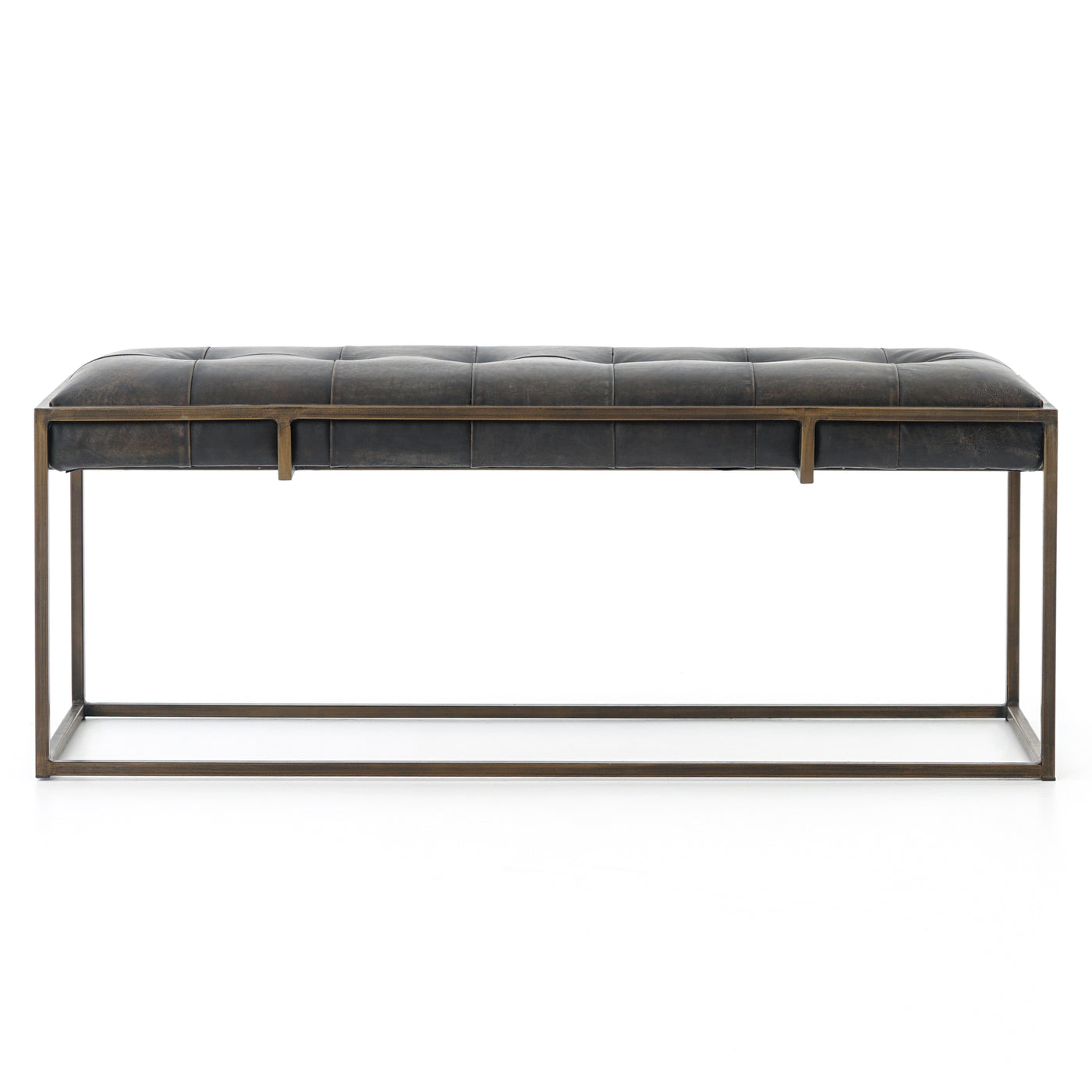 four hands oxford bench ebony front