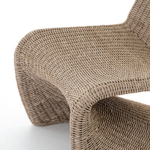 four hands portia outdoor chair seat detail
