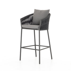 four hands porto outdoor bar stool charcoal