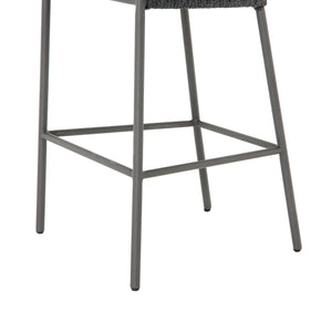 four hands porto outdoor bar stool charcoal legs