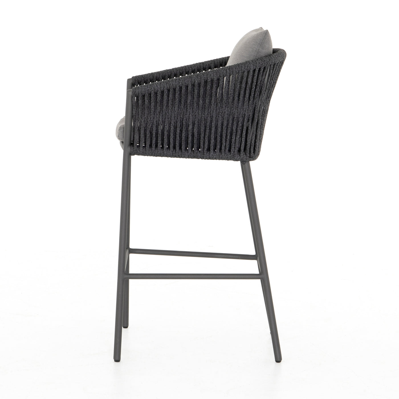 four hands porto outdoor bar stool charcoal side