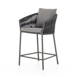 four hands porto counter stool charcoal