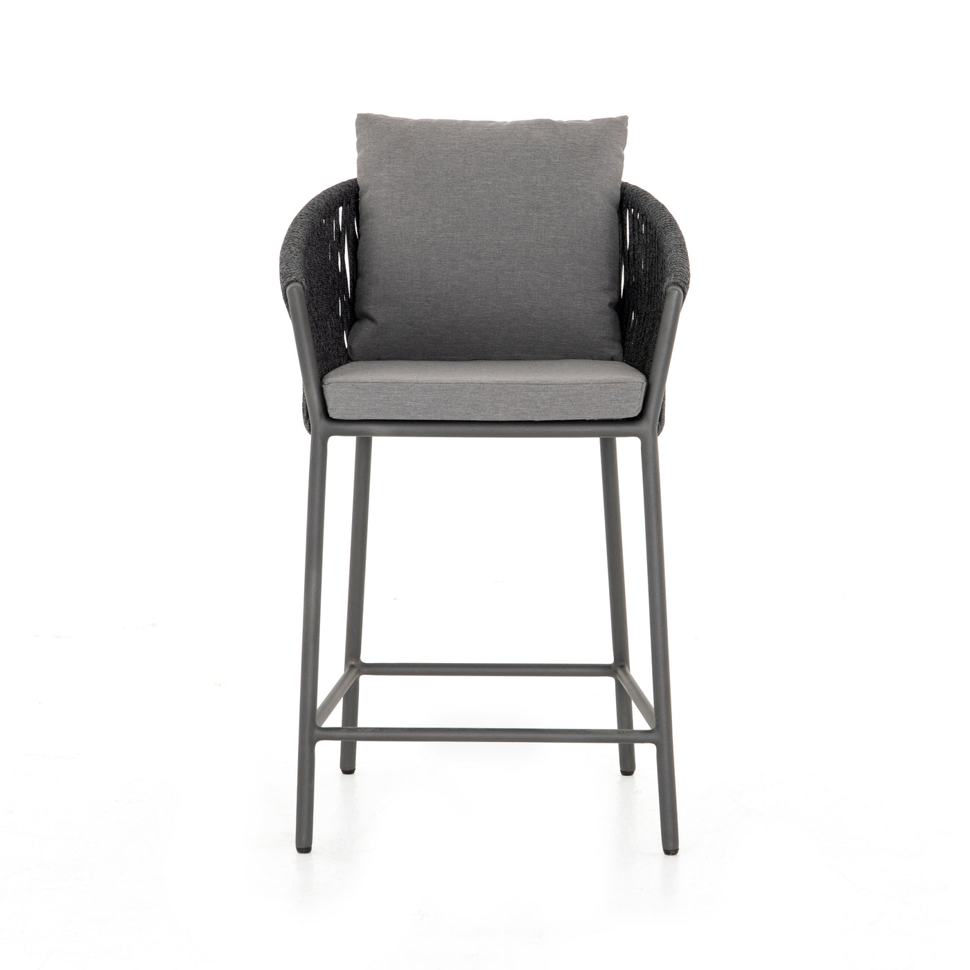 four hands porto counter stool charcoal front