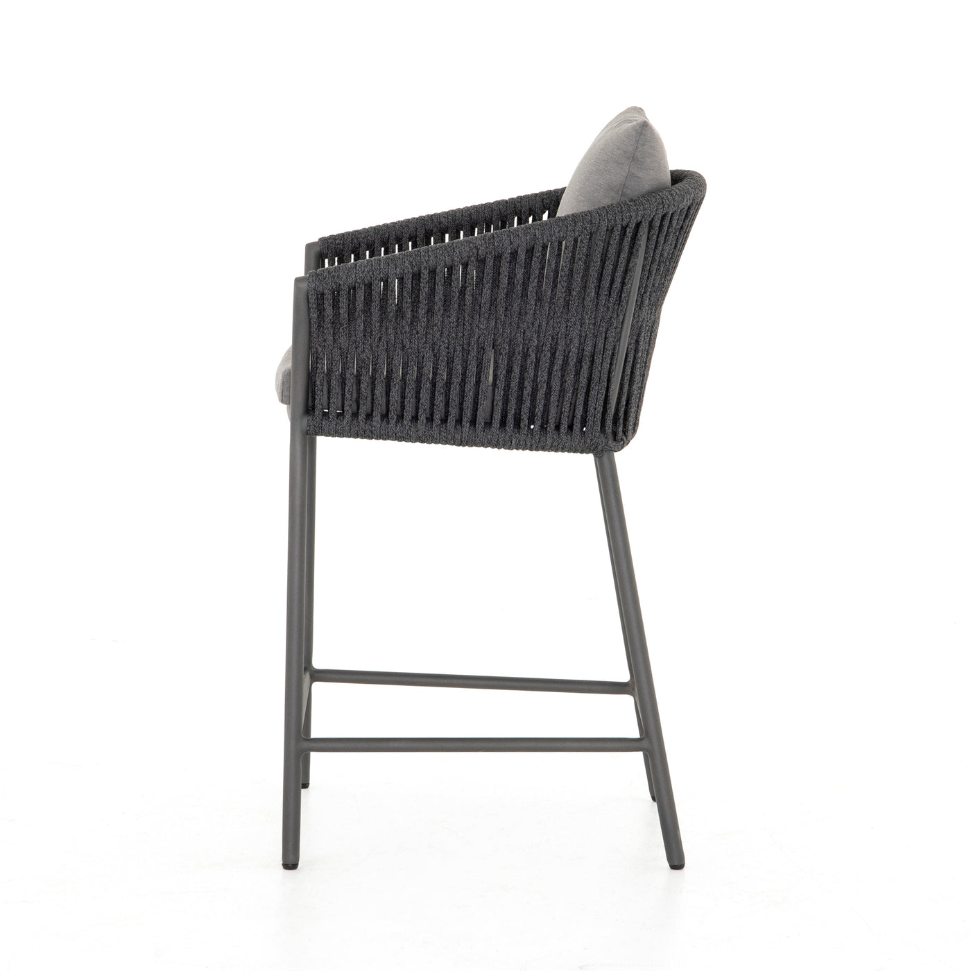four hands porto counter stool charcoal side