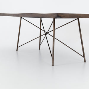 four hands rocky dining table angle bottom angle