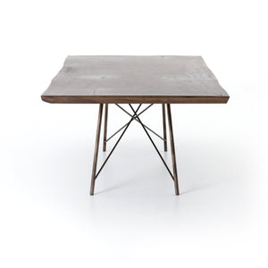 four hands rocky dining table angle vertical