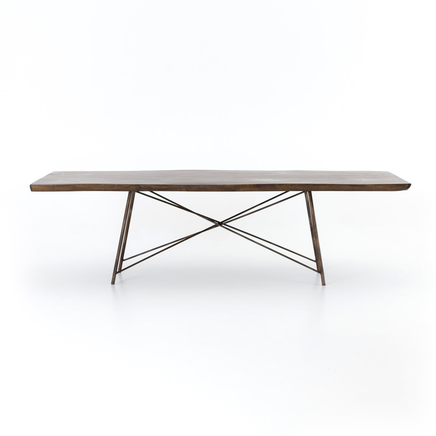 four hands rocky dining table angle horizontal