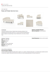 four hands rose chaise left arm  tearsheet