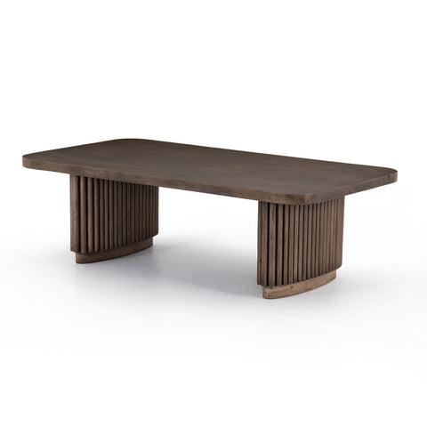 four hands rutherford coffee table ashen brown