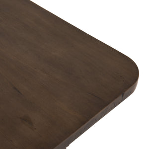 four hands rutherford coffee table ashen brown top view