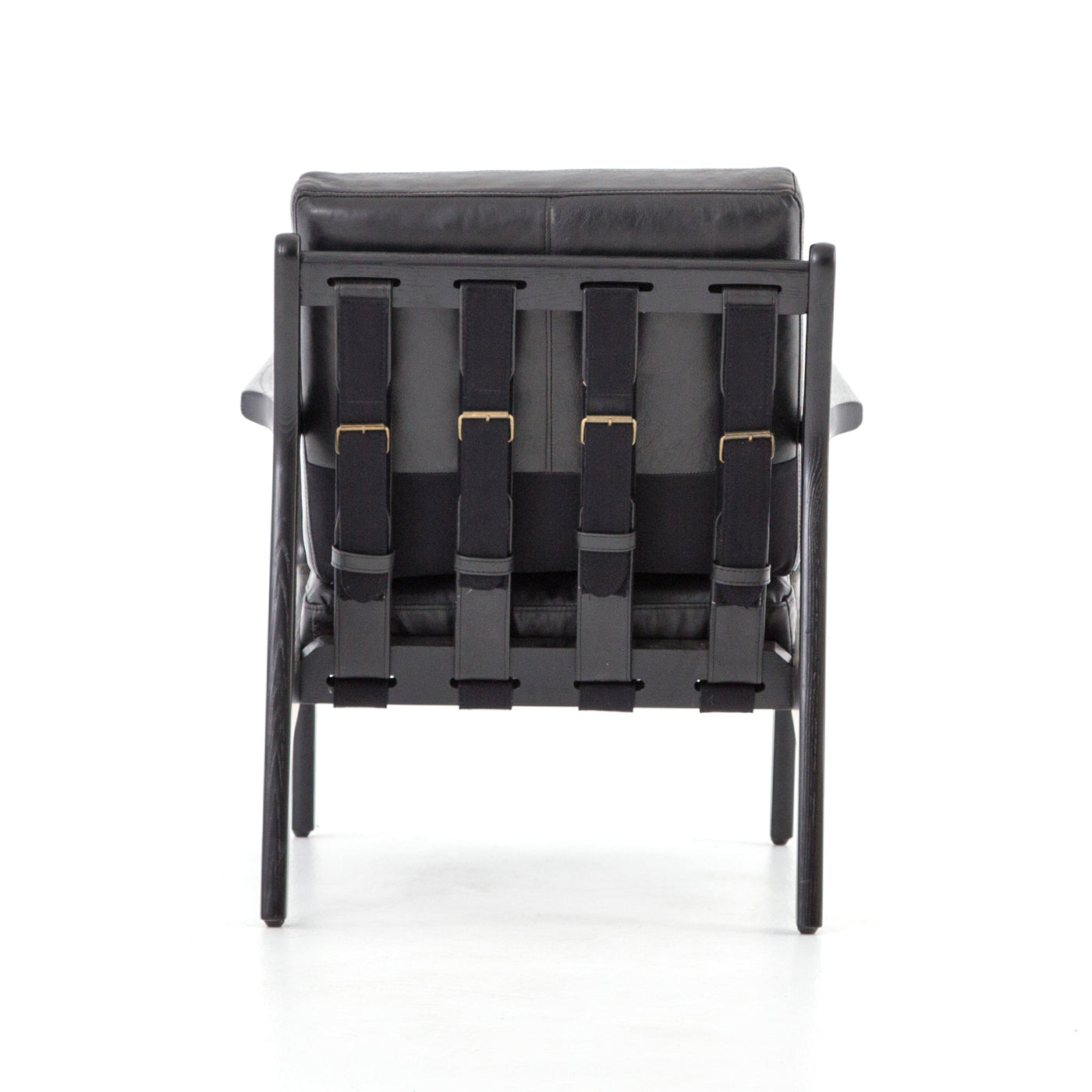 four hands silas chair aged black back
