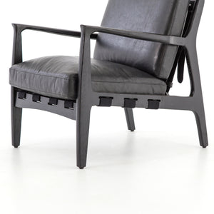 four hands silas chair aged black seat