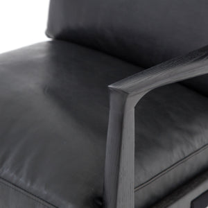 four hands silas chair aged black arm