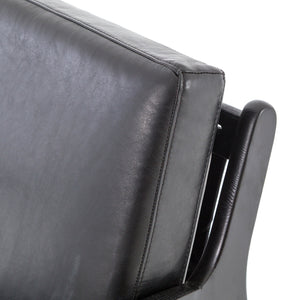four hands silas chair aged black top corner