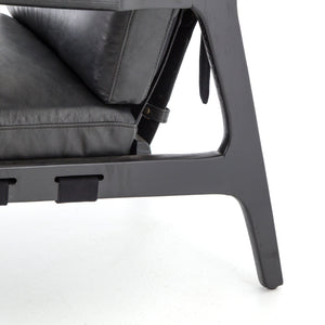 four hands silas chair aged black leg