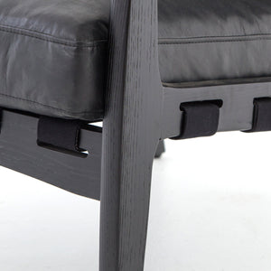 four hands silas chair aged black detail