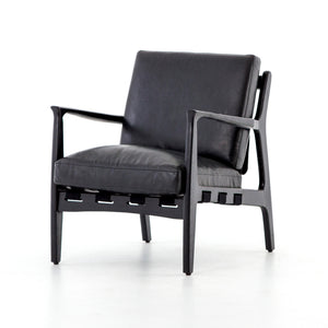 four hands silas chair aged black