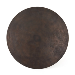 four hands simone bistro table antique rust tabletop
