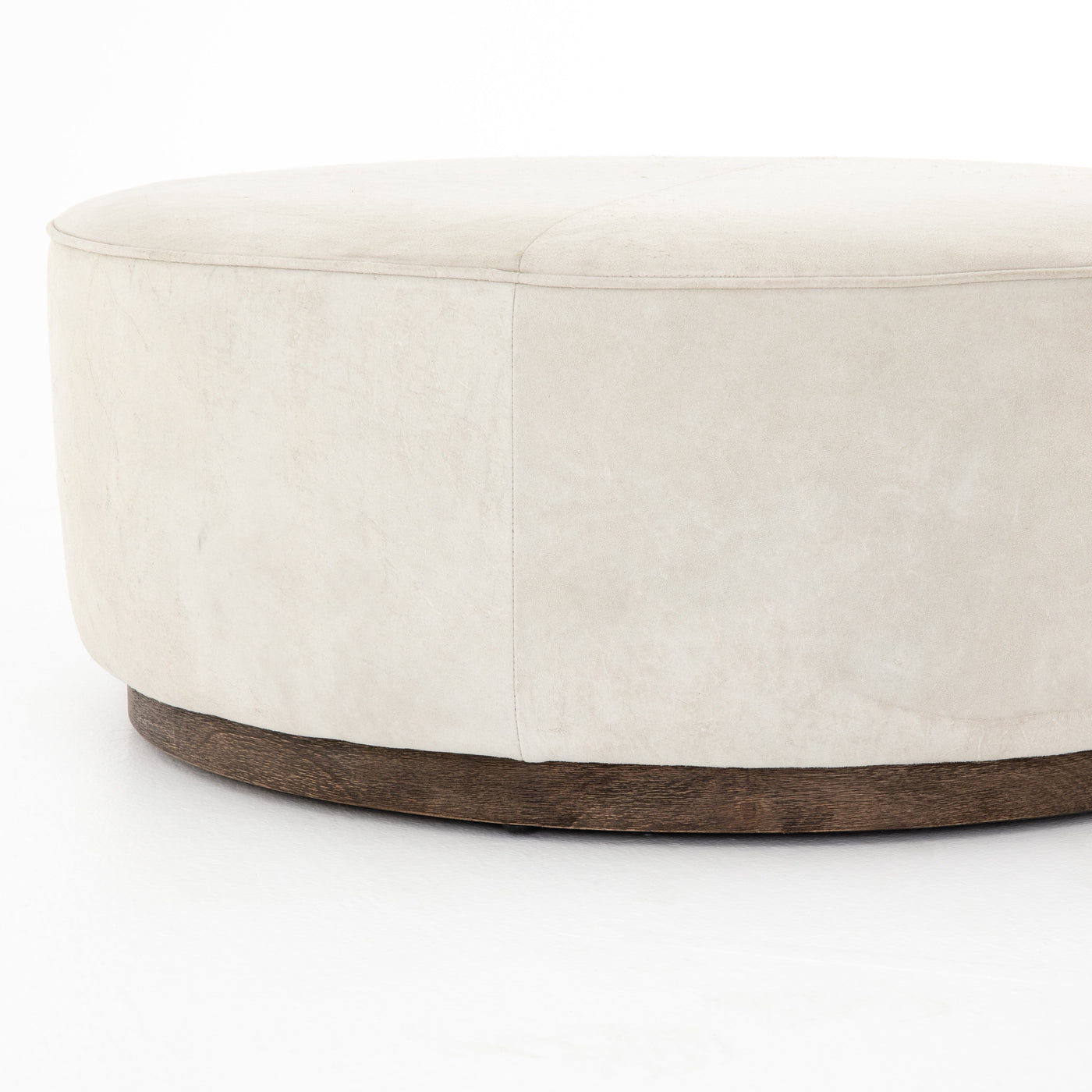 four hands sinclair large ottoman oyster side view