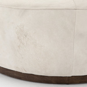 four hands sinclair large ottoman oyster close up side view