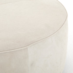 four hands sinclair large ottoman oyster seat detail